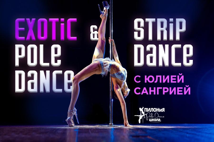 Exotic pole dance & Strip dance с Юлией Сангрия